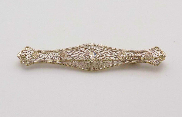 Diamond Filigree Antique Brooch