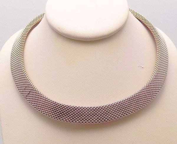 14K White Gold & 14K Yellow Gold Woven Necklace