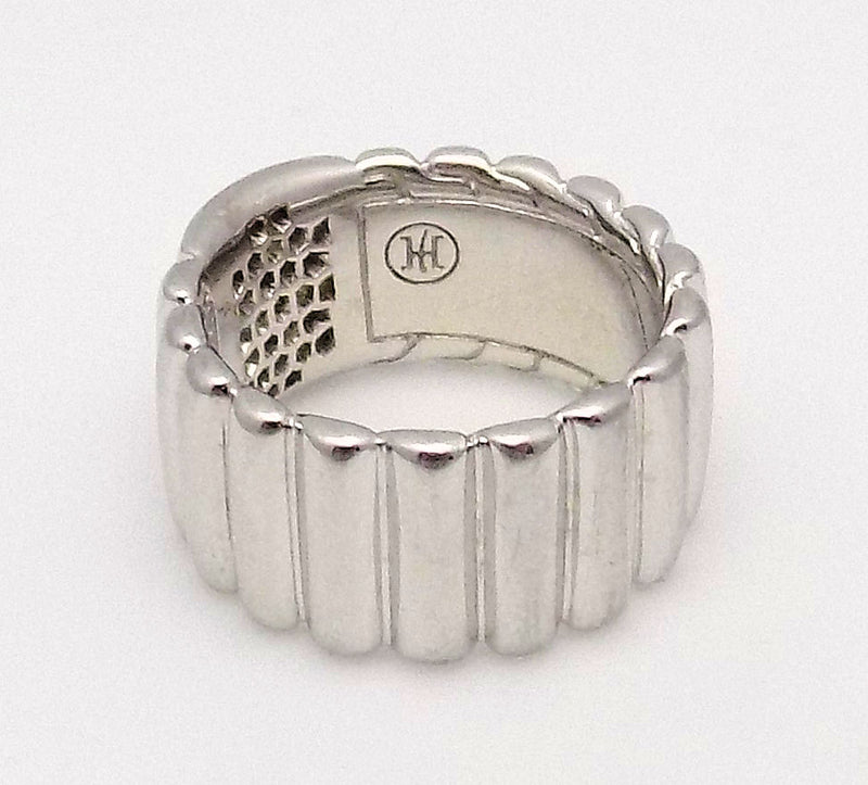 John Hardy Sterling Silver & Diamond Bedeg Ring