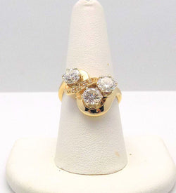 14K Yellow Gold Diamond Cocktail Ring