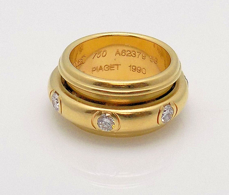 18K Yellow Gold Diamond Band by Piaget