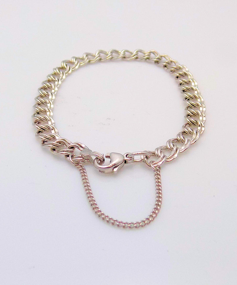 JAMES AVERY Sterling Silver Double Link Charm Bracelet