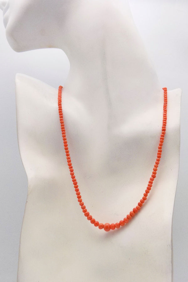 Antique Mediterranean Coral Beads