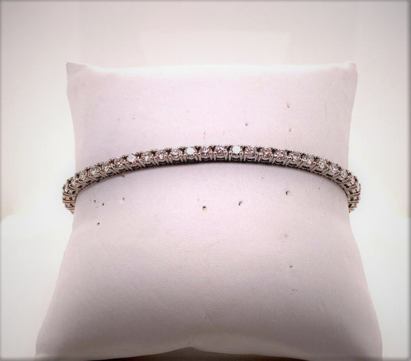 14K White Gold Diamond Tennis/Line Bracelet