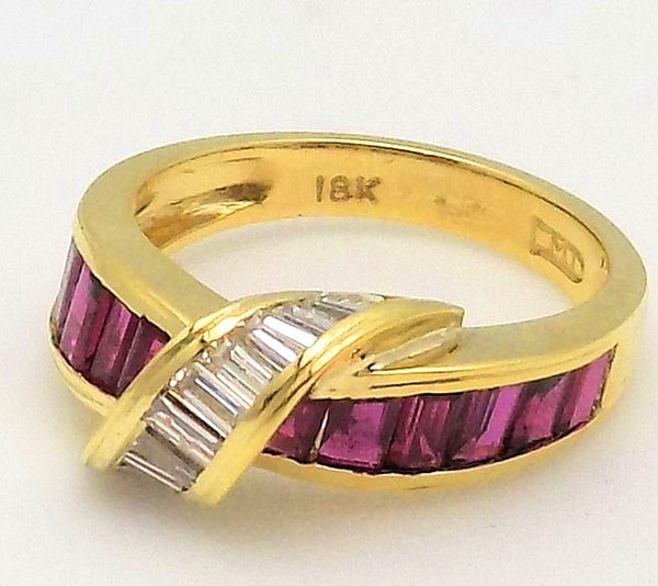 Ruby, Diamond & 18K Yellow Gold Ring