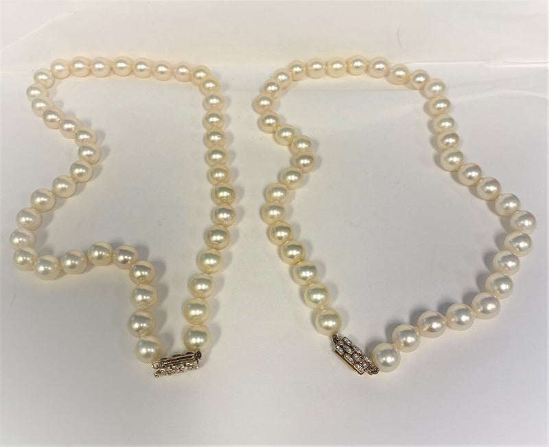 3-Way Strand Cultured Pearls with 18K Yellow Gold  & Diamond Convertible Clasp