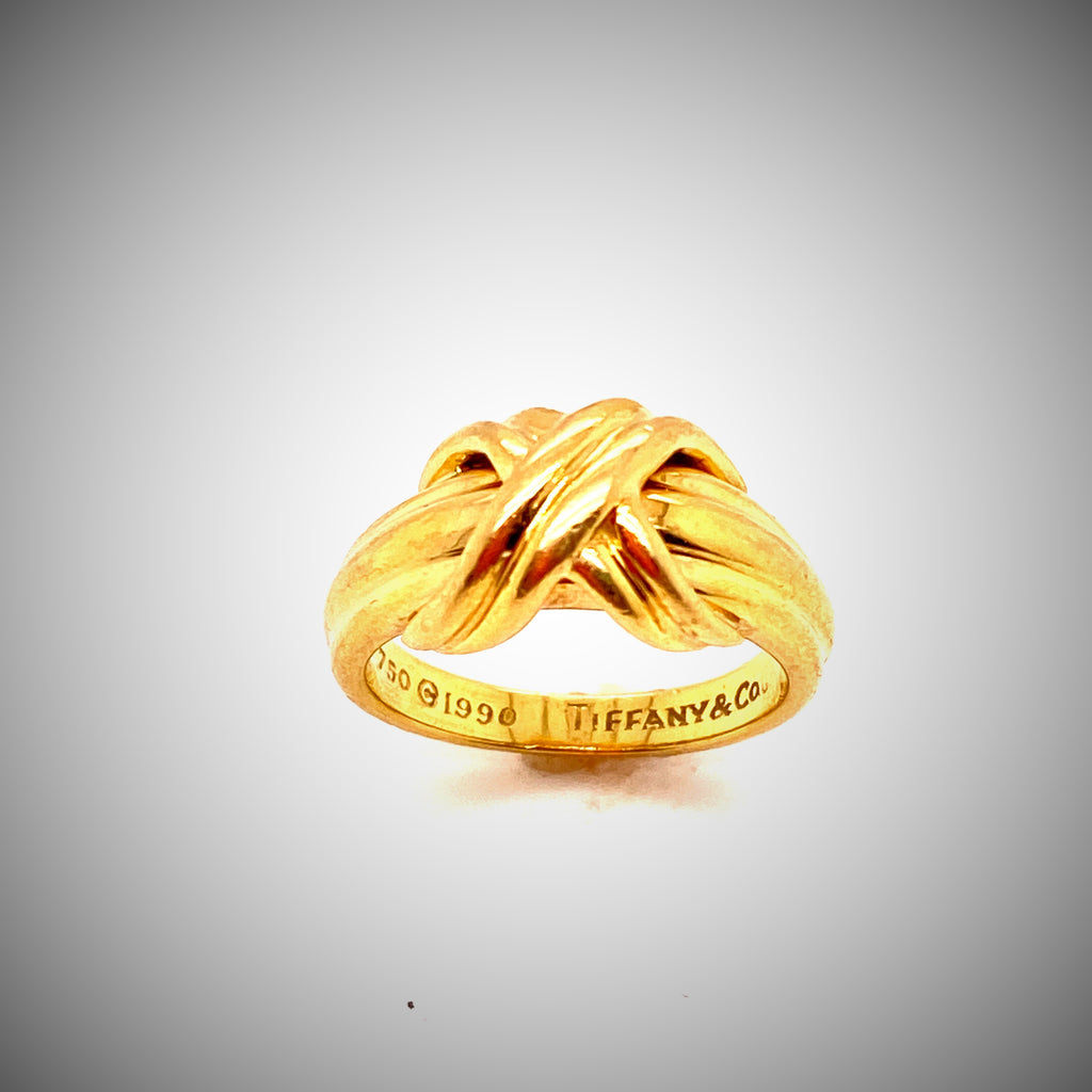 18k Yellow Gold Tiffany Co Love Knot Ring The Jewelry Gallery Of Dallas