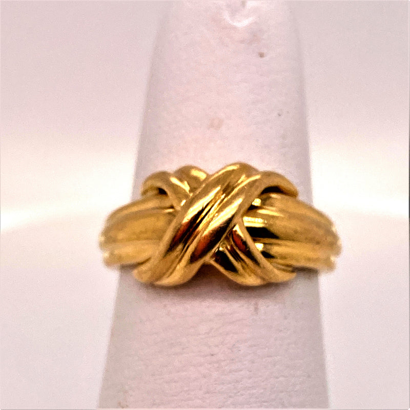 18K Yellow Gold Tiffany & Co. Love Knot Ring