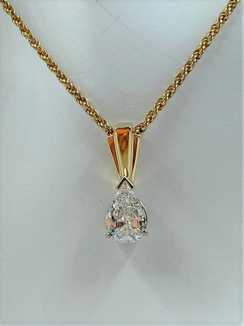14K Yellow Gold/White Gold Diamond Pendant