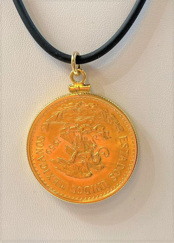14K Yellow Gold Coin Pendant (Pendant Only)