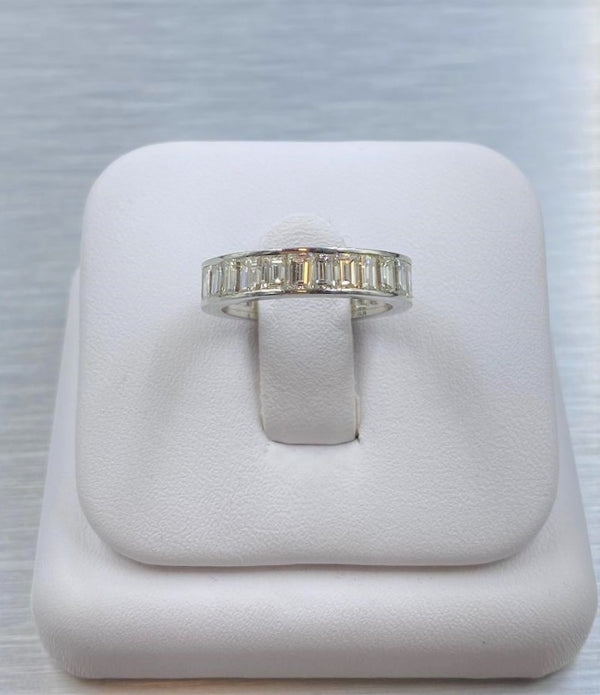 Platinum 2.50 Carat TW Baguette Cut Diamond Band