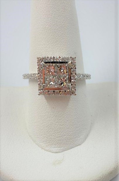 Platinum & Princess Cut Diamond Ring