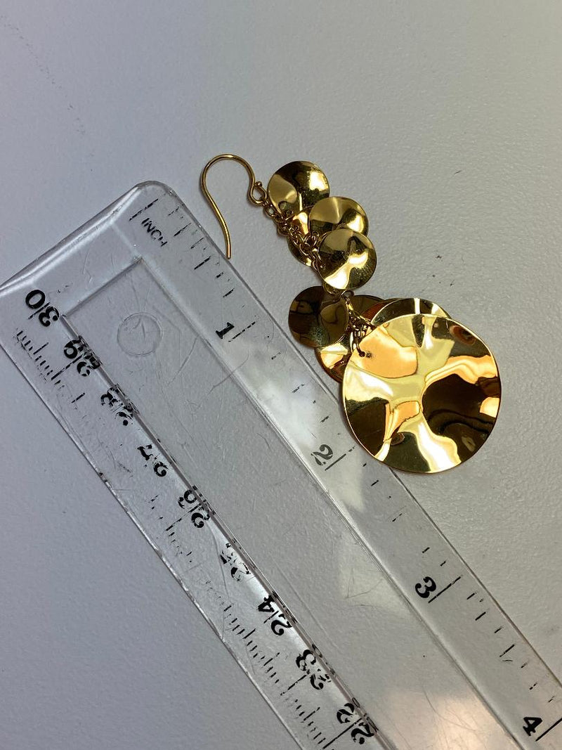 Ippolita Pair 18K Yellow Gold Cascading Disc Earwires