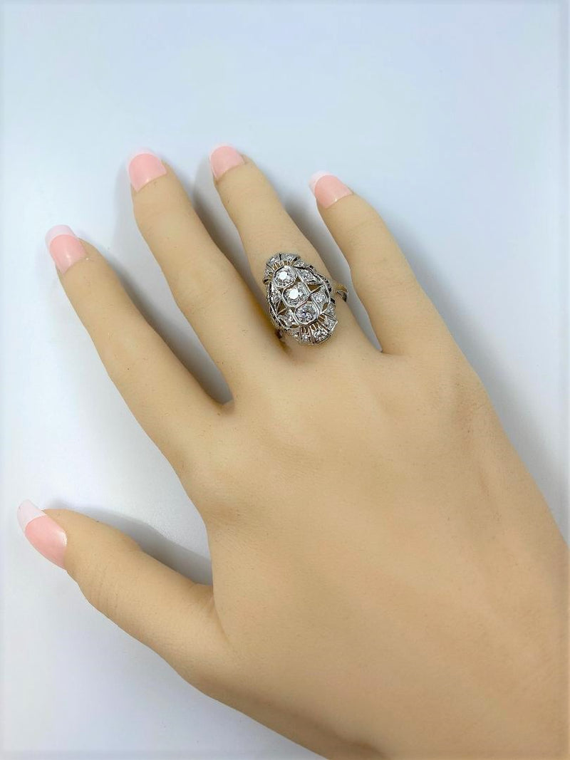 Platinum & Diamond Dinner Ring