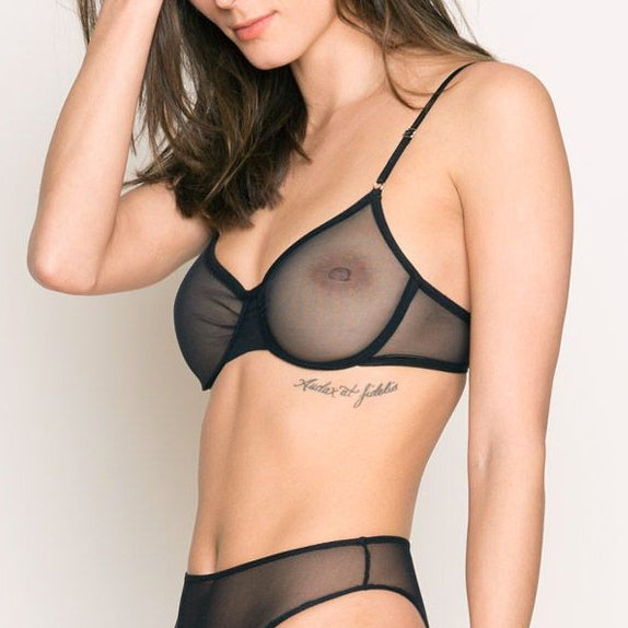 Only Hearts: Whisper Underwire Bra - Black