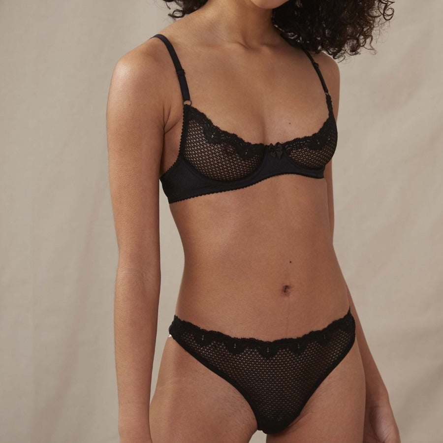 Duet By Timpa: Lace Demi Bra - Black