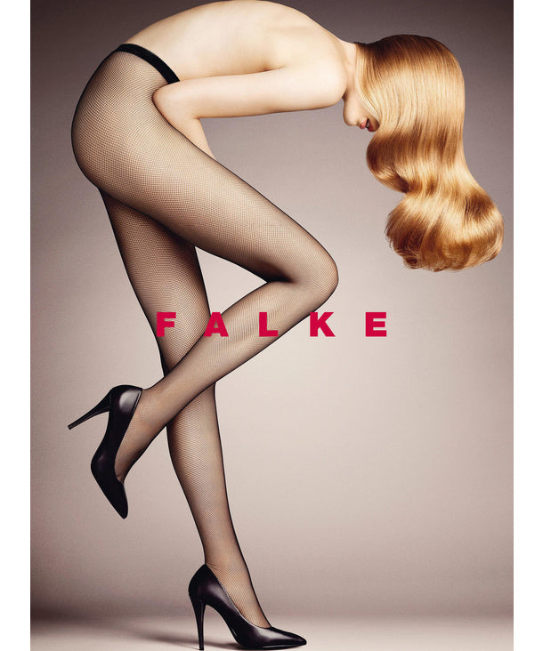Falke: Small Fishnet Tights - Black