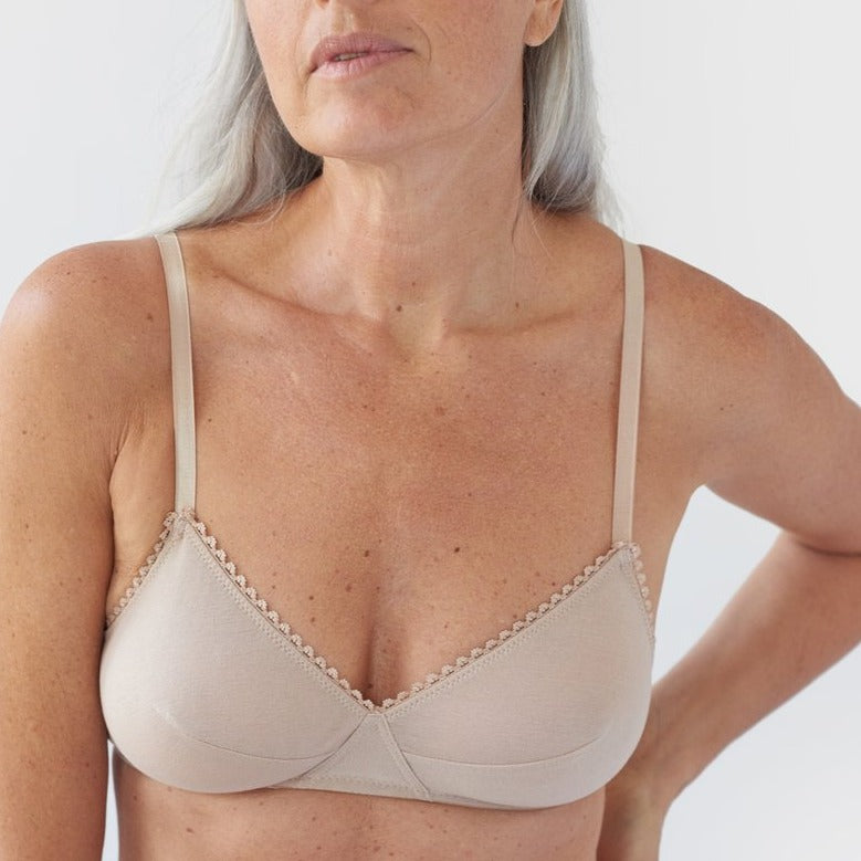 Araks: Antonia Cotton Wireless Bralette - Beige