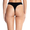 Beth Richards: High-Waisted Thong Bikini Bottom - Black