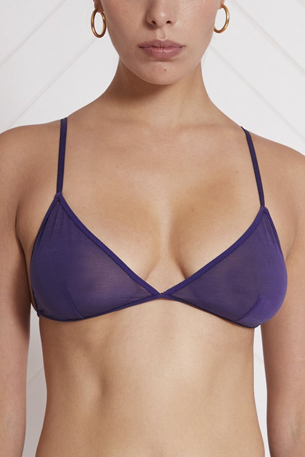 Marika Vera: Moore Triangle Wireless Bra - Plum