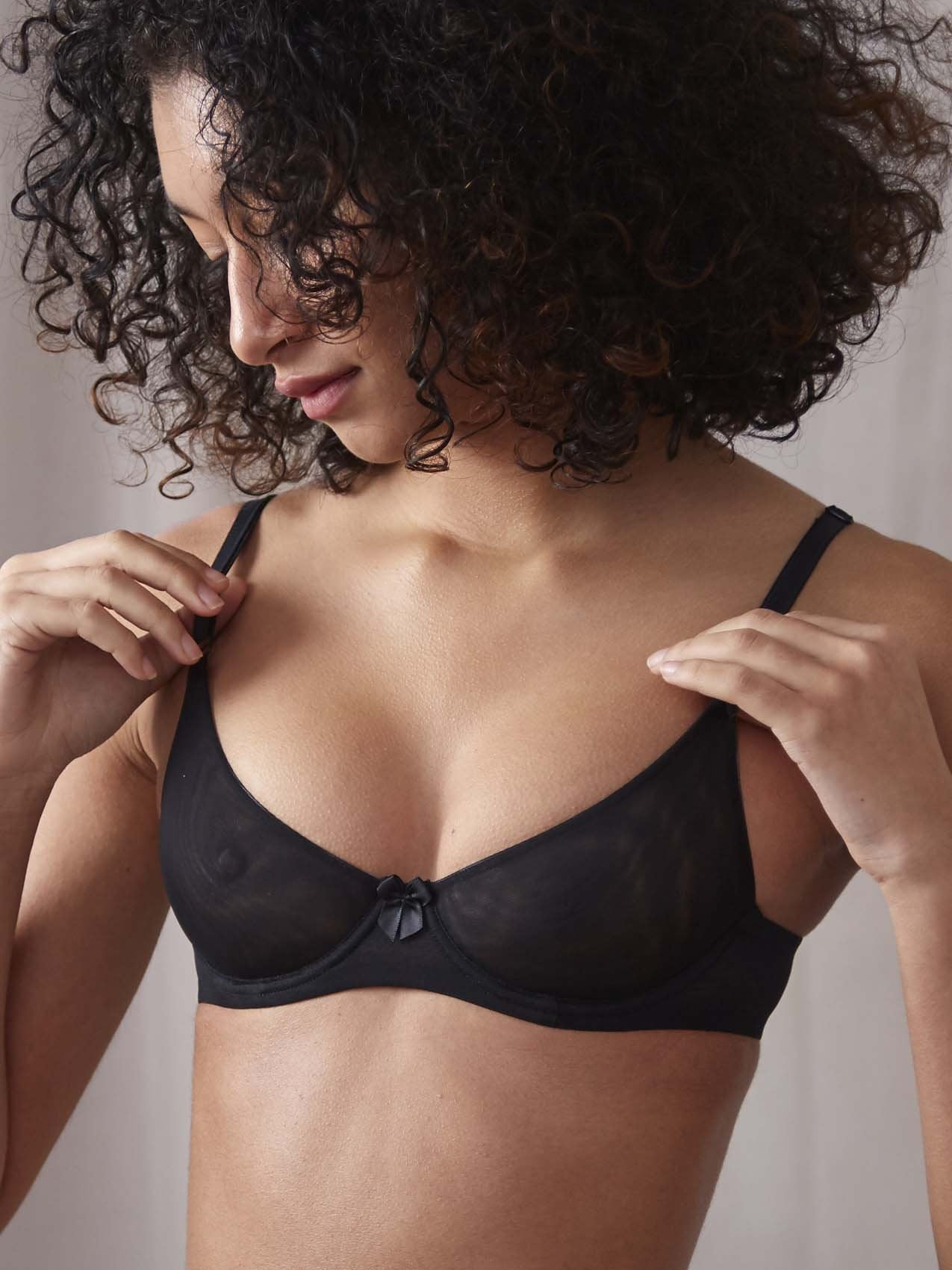 Duet by Timpa: Mesh Demi Bra - Black