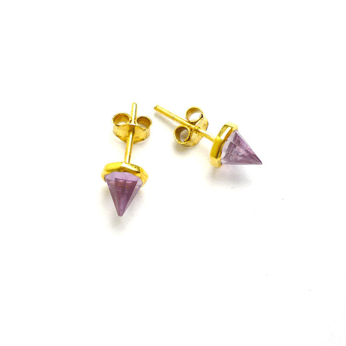 amethyst with 18k gold vermeil