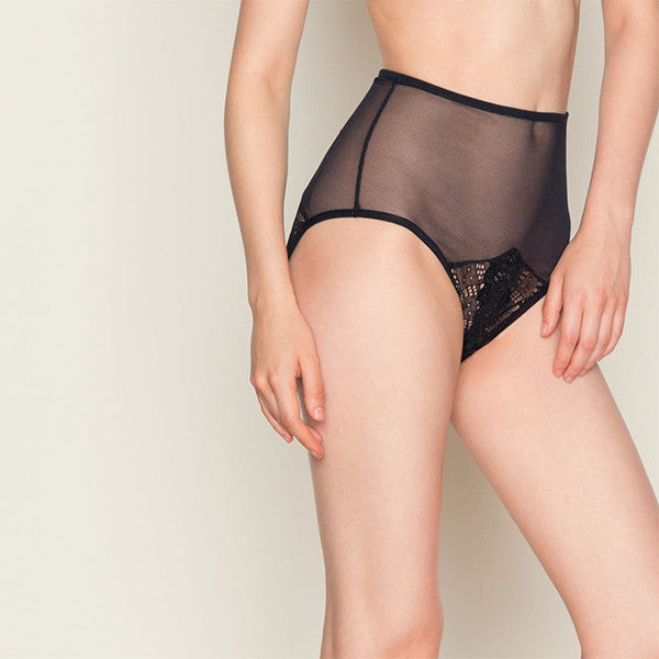Only Hearts: Whisper Sweet Nothings High-Waisted Brief - Black