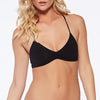 L SPACE: Haley Cinch Bandeau Bikini Top - Black