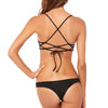 L SPACE: Haley Cinch Bandeau Bikini Top* - Black