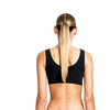 Beth Richards: Knot Crop Bikini Top - Black