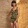 Siyu: Abai Bathing Short 1 Piece - Navy Olive