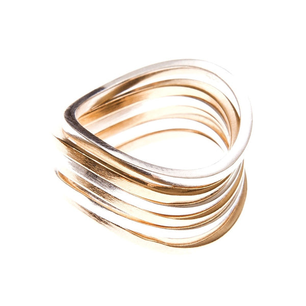 By Boe: Curved Stacking Ring - Silver