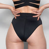 La Fille d'O: Adore High-Waisted Bikini Bottom  - Black