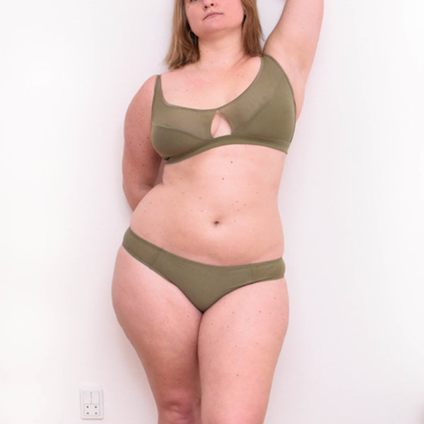Moons & Junes: Audre Wireless Keyhole Bra - Olive