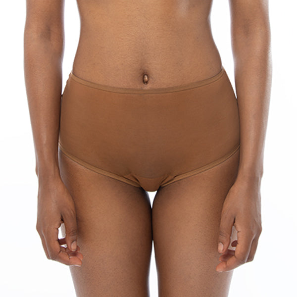 Ownbrown: Mesh High-Waisted Brief - Bintu