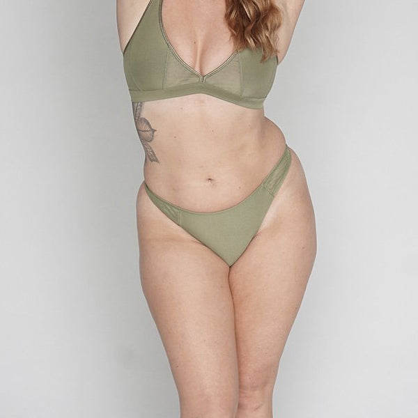 Moons & Junes: Coco Thong - Olive