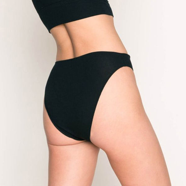 Only Hearts: Featherweight High Cut Brief - Black