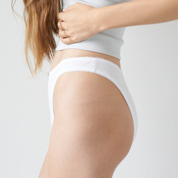 Hello Beautiful: French Cut Panty - White
