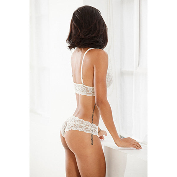 Clo: Fortuna Lace Cheeky Boyshort - Ivory