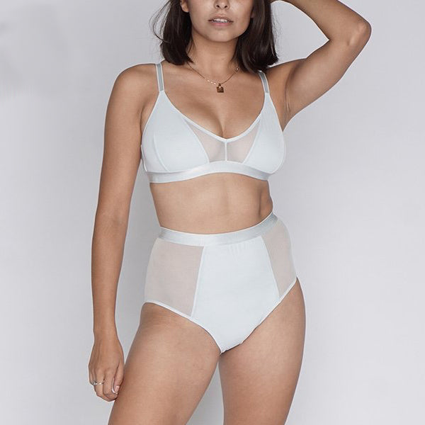Moons & Junes: Ewe High-Waisted Brief - Light Blue