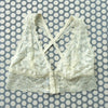 Clo: Fortuna Lace Wireless Bralette with Wide Straps - Ivory