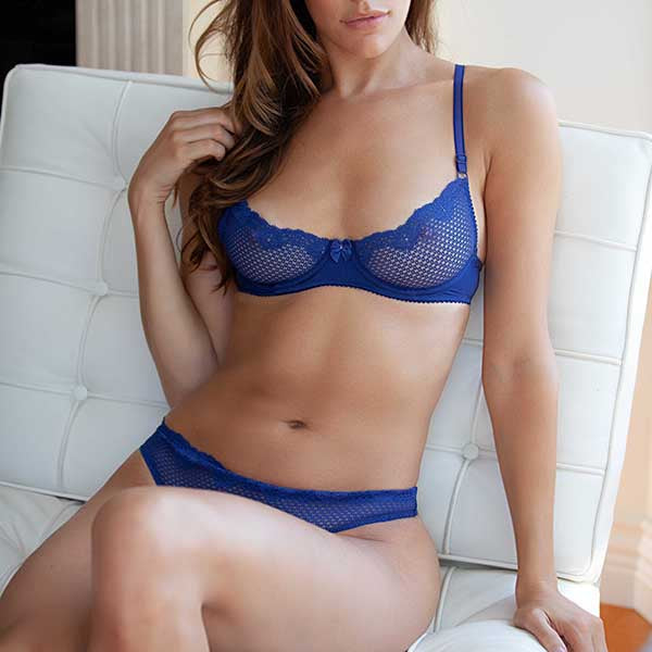 Duet By Timpa: Lace Demi Bra - Navy
