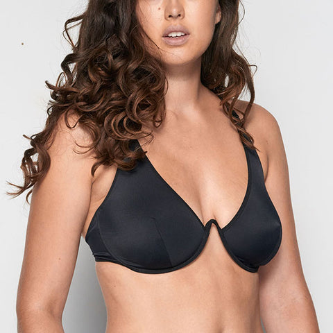 La Fille D'o: Changes Mono Wire Bikini Top - Black