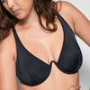 La Fille D'o: Mono Wire Bikini Top - Black