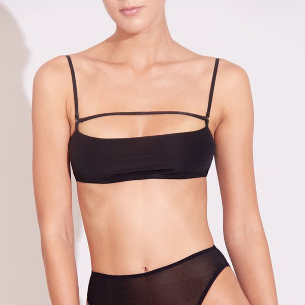 Marika Vera: Moore Wireless Bandeau Bra - Black