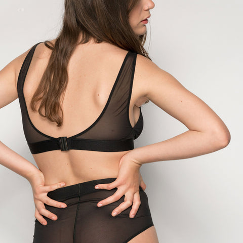 La Fille D'o: Real Cool Ramble On Wireless Bra - Black