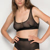 La Fille d'O: Ramble On Wireless Bra - Black
