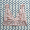 Clo: Fortuna Lace Bralette with Wide Straps Bra  - Rosa Cuarzo