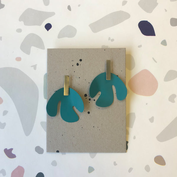 Sibilia: Cut Out Earring - Teal