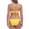Freya: California Underwire Bandeau Bikini Top - Yellow/Cream